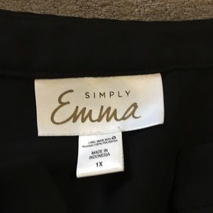 Simply Emma-Black Blouse 1x